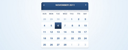 Dark Blue Calendar