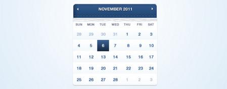 Dark Blue Calendar