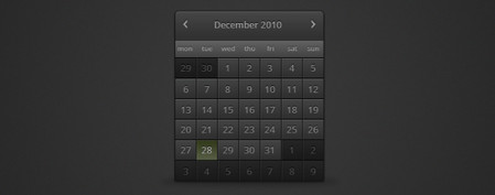 Dark Calendar