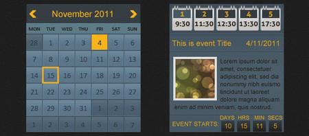 Blue Event Calendar
