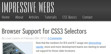Browser Support for CSS3 Selectors