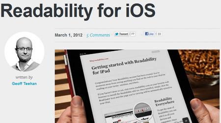 Readability for iOS