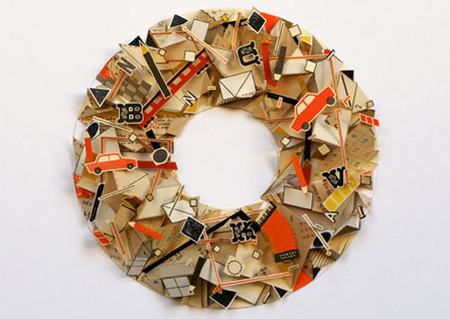 Three-dimensional collages by Sarah Bridgland