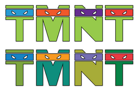 Teenage Mutant Ninja Typography