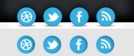 Blue Social Icons