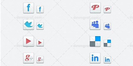 Minimal Social Media Icons + psd