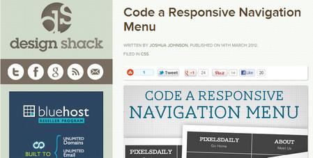 Code a Responsive Navigation Menu