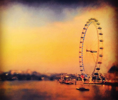 London Eye at dusk