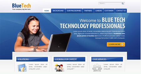 BlueTech- Software/IT Company Web Template