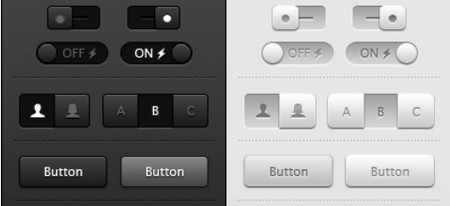 Toggles, Buttons and Sliders UI
