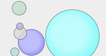 Create an interactive bubble chart with HTML5 canvas