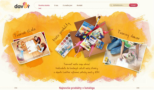 Showcase of Creative Warm Yellow Website Designs Examples
