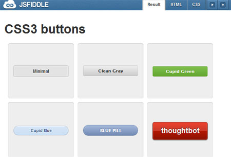 Pure Css3 Buttons With Hover Effect