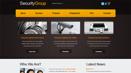Website Template for Security Project