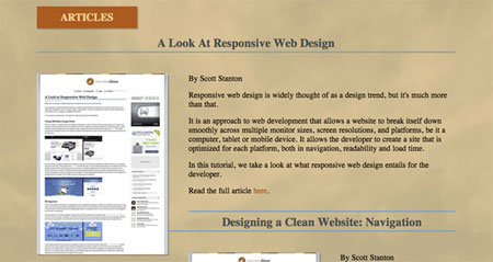 Developing a Responsive Website Part 4: Finishing The Homepage Portfolio Slider