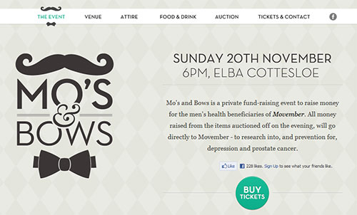 Mo`s and Bows - Supporting Movember