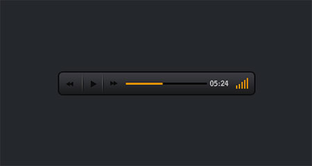 Dark audio player