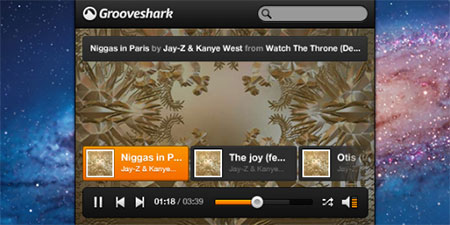 Grooveshark Mini Music Player