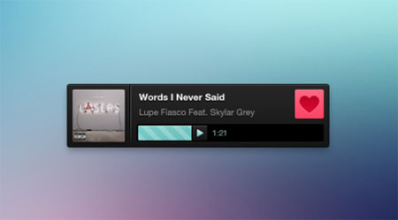 a simple and sexy audio player