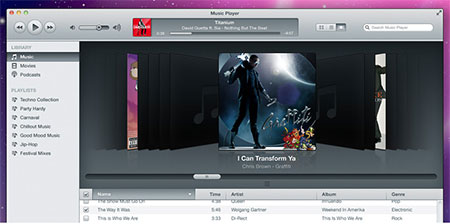 iTunes Inspired Music Player