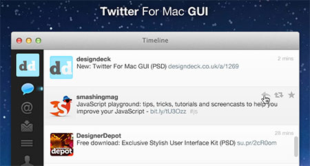 Twitter For Mac GUI