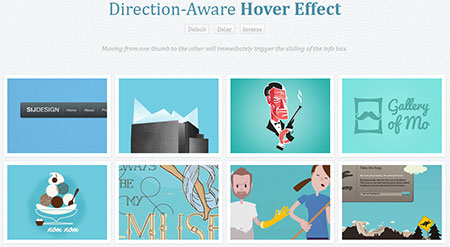 Direction-Aware Hover Effect with CSS3 and jQuery