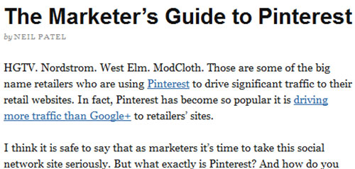 The Marketers Guide to Pinterest