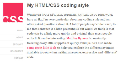My HTML/CSS coding style