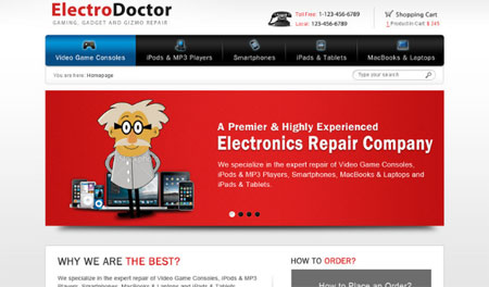 ElectroDoctor - E-commerce template