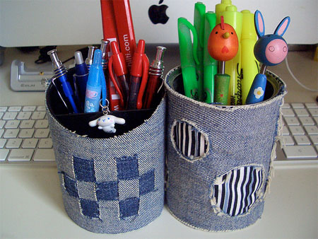 Old Jeans Pencil Cup