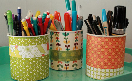 3 pencil cups