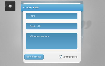 Blue Contact Form