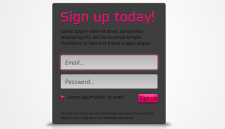 Sign Up Box