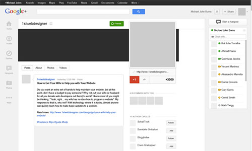 Recreate Google+ Pages Using Adobe Photoshop