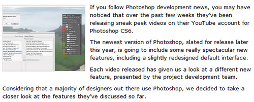 A look at Photoshop CS6