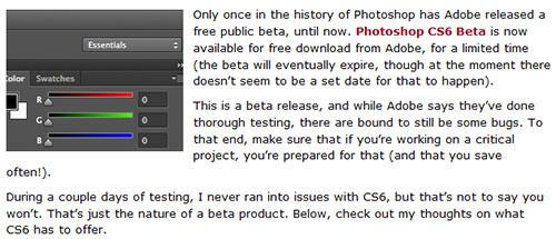Review: Photoshop CS6 Beta