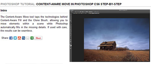 Content-Aware Move in Photoshop CS6 step-by-step