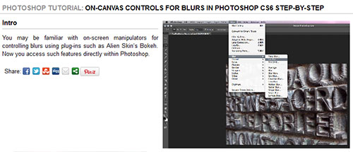 On-canvas controls for blurs in Photoshop CS6 step-by-step