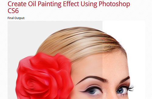 Create Oil Painting Photo Effects