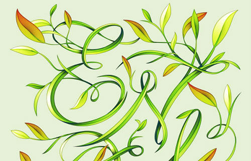 Create Elegant Leafy Lettering