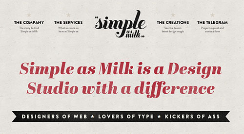 Simple as milk