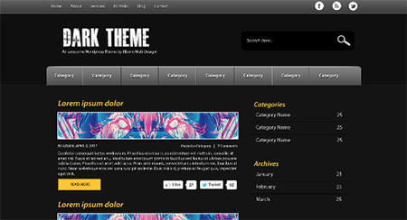 Design a Dark & Minimal WordPress Theme in Photoshop