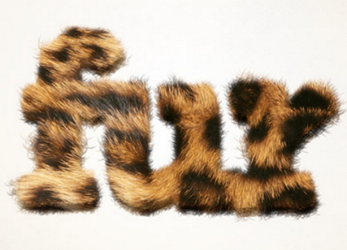Furry Text in Pixelmator by Fabio Sasso