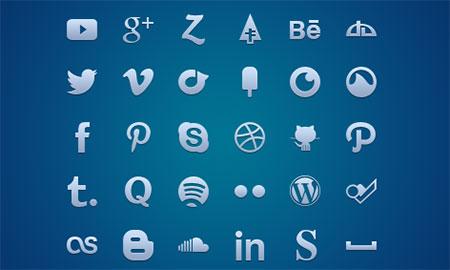 Multi-Format Social Media Glyph Set