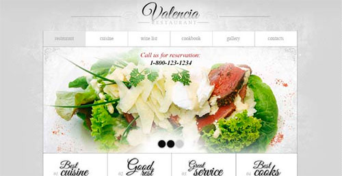 Website Template for Restaurant Business