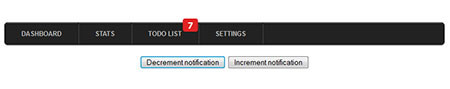 Notification bubble with CSS3 keyframe animation