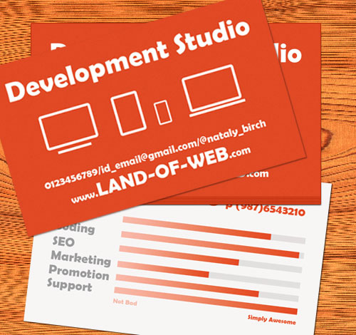 Dev Studio Business Card preview
