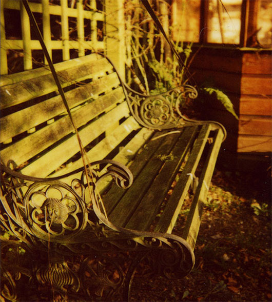 Garden bench by Bill McEwan