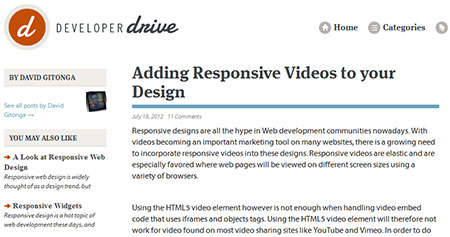 Adding Responsive Videos to your Design