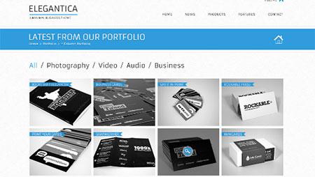 4 column portfolio template